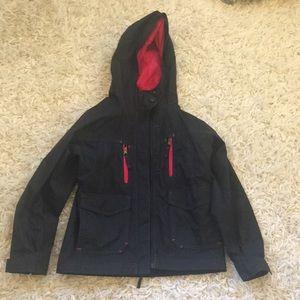 Columbia girls rain jacket.
